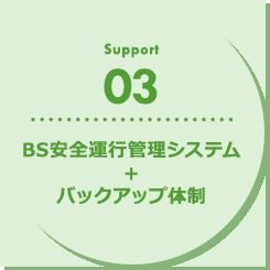 BS安全運行管理システム+バックアップ体制